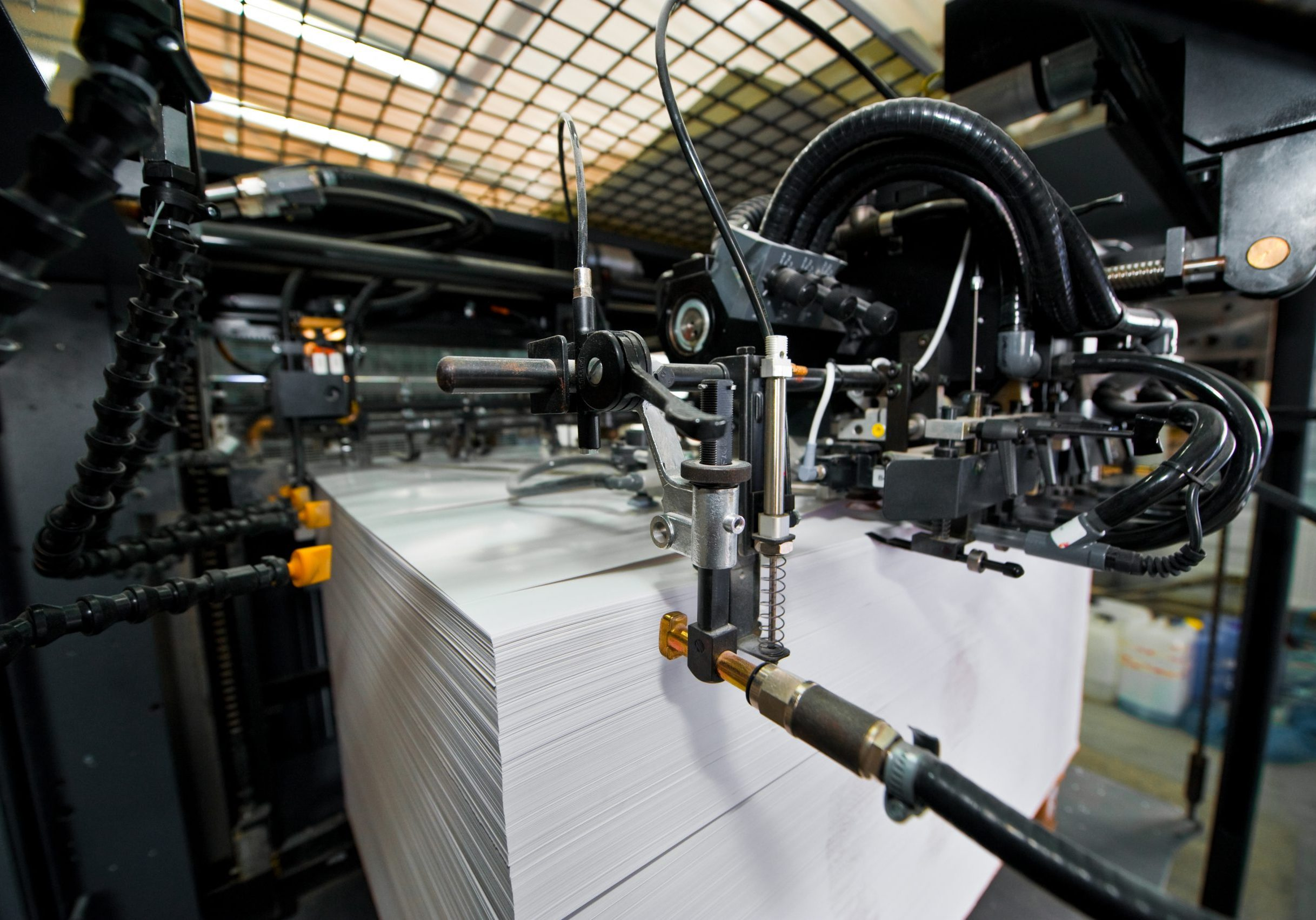 large printing for printing newspapers and magazines